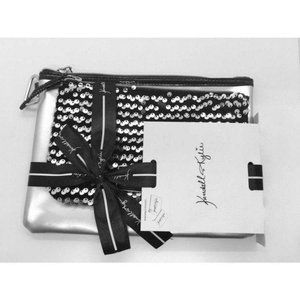 Kendall Kylie Set of 2 Silver & Black Sequin Bags